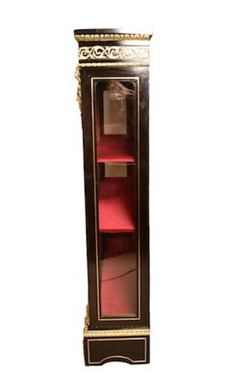 Antique français noirci Boulle Afficher image de Cabinet 5