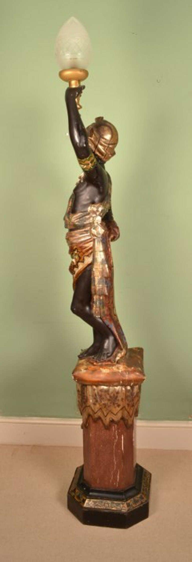 Antique Venetian Blackamoor Torchiere Lamp C 1860 At 1stdibs