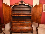 Antique Dutch Marquetry Bombe Cabinet Armoire c.1780 image 3