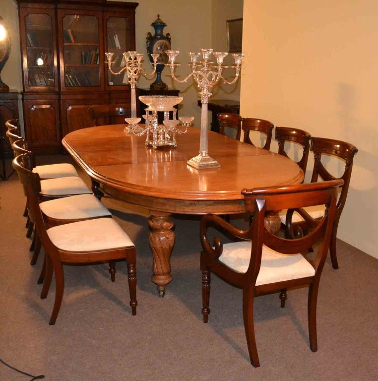 Antique Victorian Dining Table And 10 Chairs Circa 1860 At 1stdibs