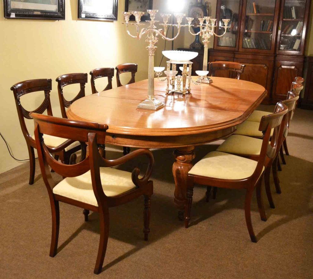 Old Victorian Dining Rooms: Antique Victorian Dining Table And 10 Chairs Circa 1860 At