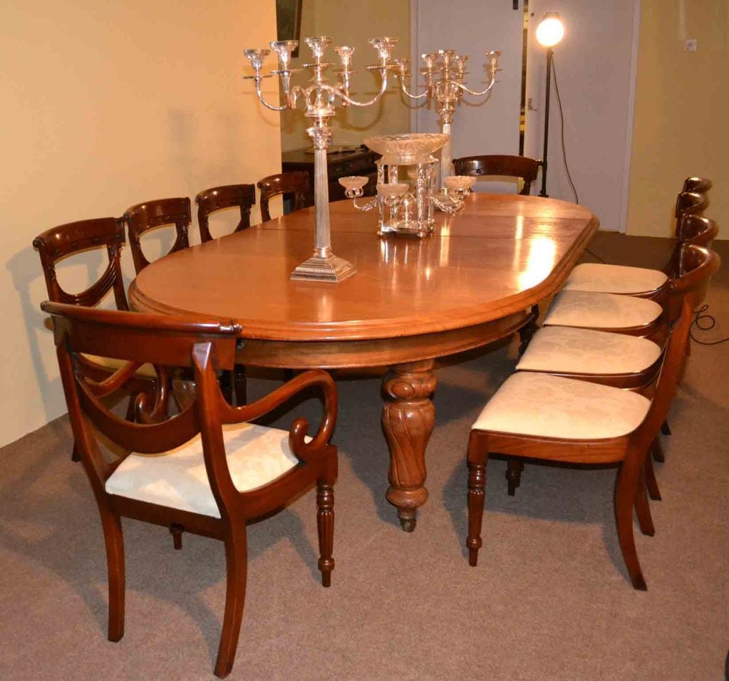 Victorian Dining Room Table: Antique Victorian Dining Table And 10 Chairs Circa 1860 At