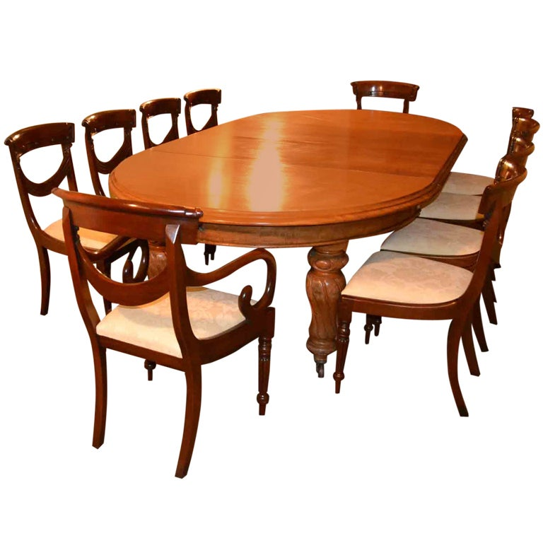 Victorian Dining Room Sets: Antique Victorian Dining Table And 10 Chairs Circa 1860 At
