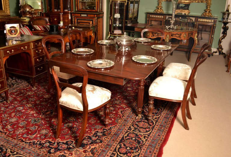 Antique Regency Dining Table 6 Chairs Circa 1820 3