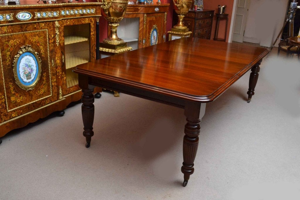 Antique victorian 8 ft mahgany dining table and 6 chairs for 10 ft dining room table