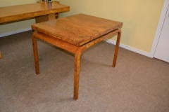 Antique Art Deco Burr Walnut Dining Table & 4 Chairs image 5