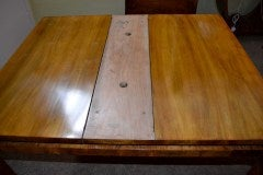 Antique Art Deco Burr Walnut Dining Table & 4 Chairs image 7