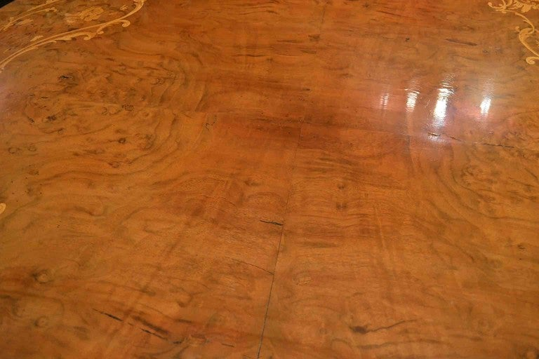 Antique Victorian Marquetry Loo Table 5ft Diameter In Excellent Condition In London, GB