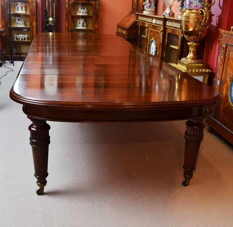 Antique 15 Ft Victorian Dining Conference Table Circa 1850