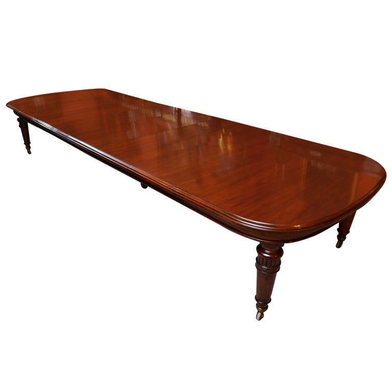 Antique 15 ft victorian dining conference table circa 1850 for 5 foot dining room table