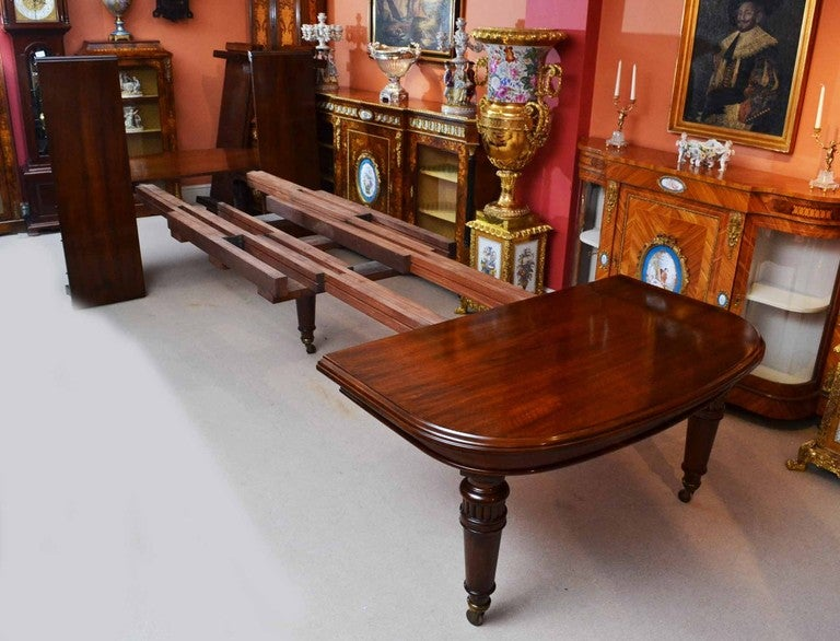 Antique 15 ft victorian dining conference table circa 1850 for 12 foot conference room table