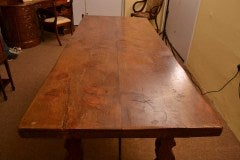 Antique Spanish Walnut Refectory Dining Table 18th Century image 3