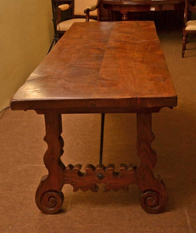 Antique Spanish Walnut Refectory Dining Table 18th Century For Sale 3