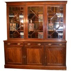 Antique Edwardian Mahogany 3 door Bookcase C1910