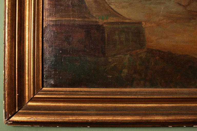 19th Century Oil Painting 'Classical Roman Ruins' In Excellent Condition In London, GB