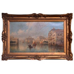 """Antique Painting """"Venetian Capriccio"""