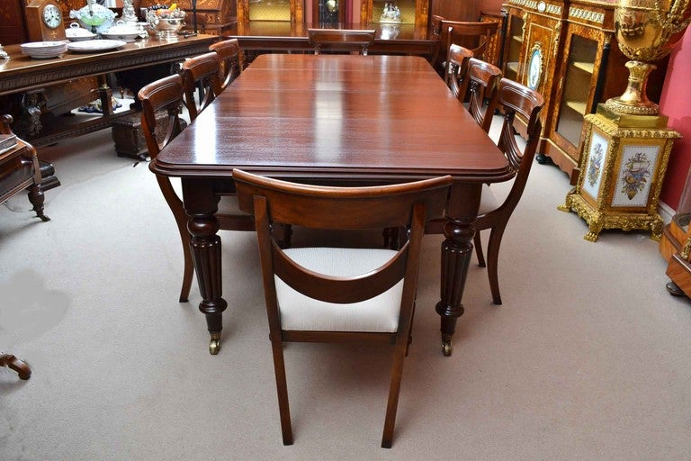 Antique Victorian  Ft Mahogany Dining Table And  Chairs At Stdibs - 8ft dining table