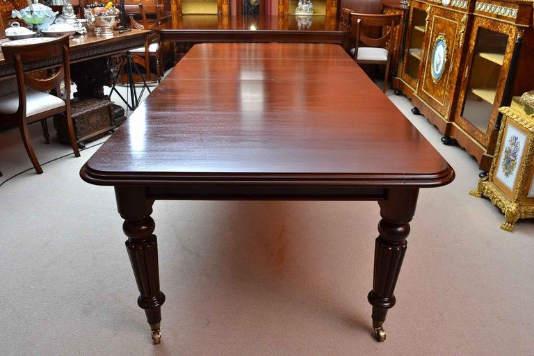Antique Victorian 8 ft Mahogany Dining Table & 8 Chairs 3 - Antique Victorian 8 Ft Mahogany Dining Table And 8 Chairs At 1stdibs