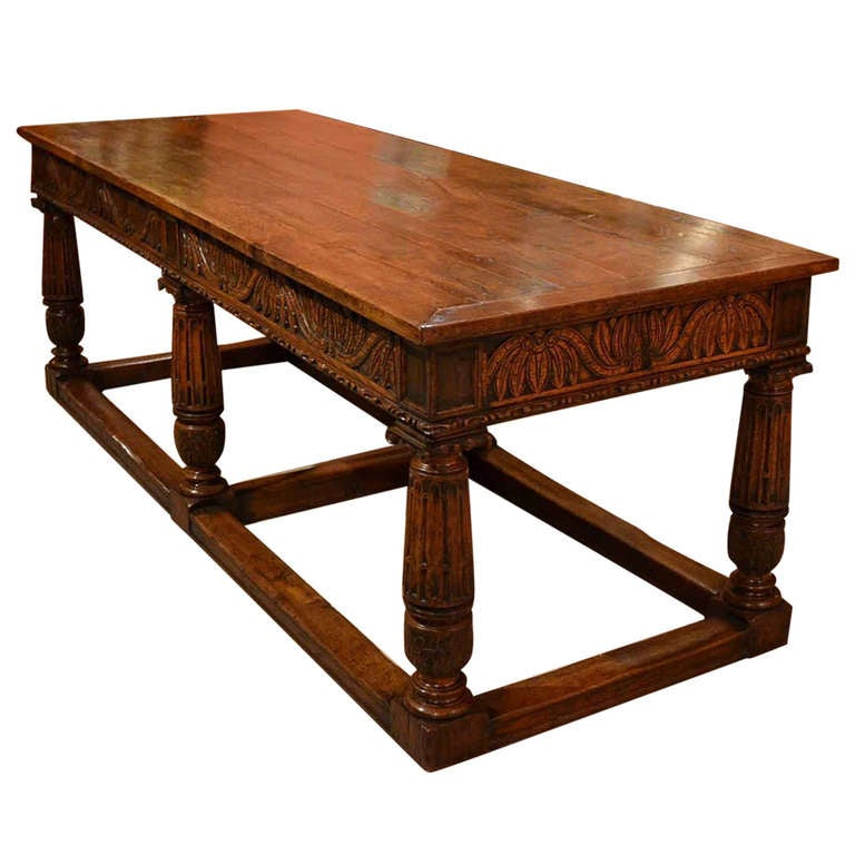 Antique Oak Refectory Dining Table and 8 Chairs at 1stdibs : 999744l from www.1stdibs.com size 768 x 768 jpeg 53kB
