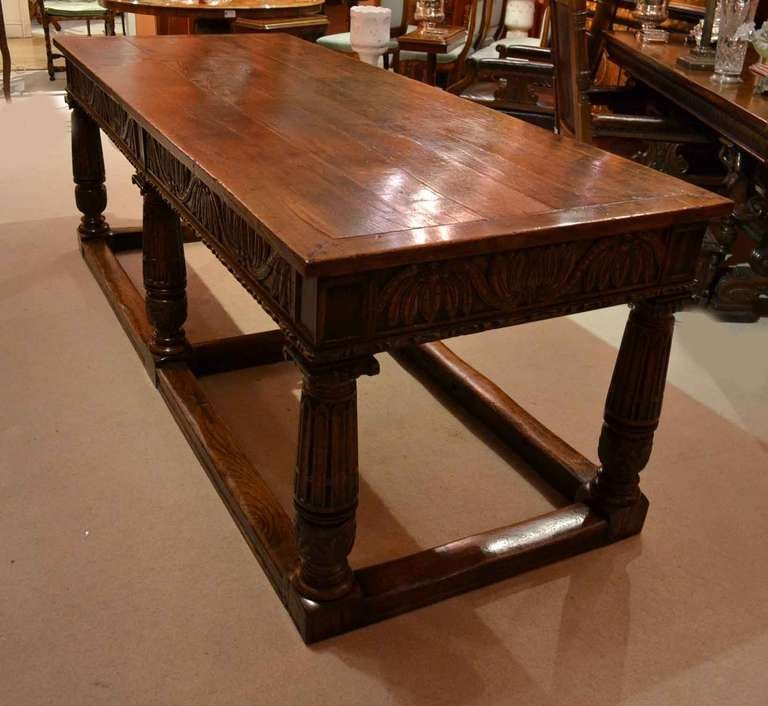 Antique Oak Refectory Dining Table and 8 Chairs at 1stdibs : y7l from www.1stdibs.com size 768 x 706 jpeg 59kB