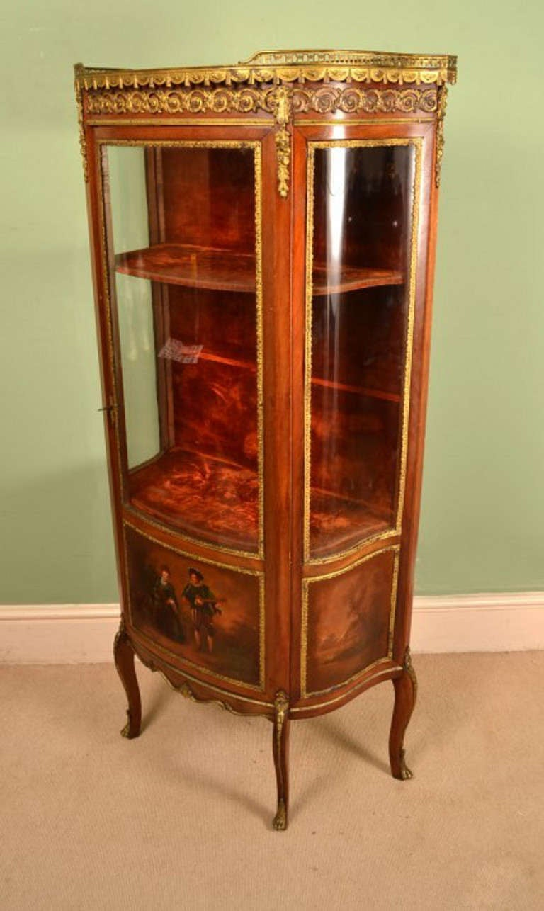 Antique vernis martin display cabinet vitrine at for Sideboard vitrine