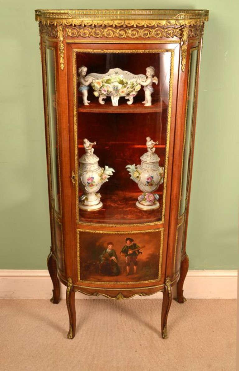 antique vernis martin display cabinet vitrine at. Black Bedroom Furniture Sets. Home Design Ideas