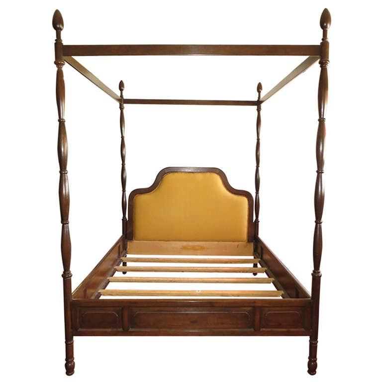 Queen Size 1960's 4 Poster Bed Frame At 1stdibs