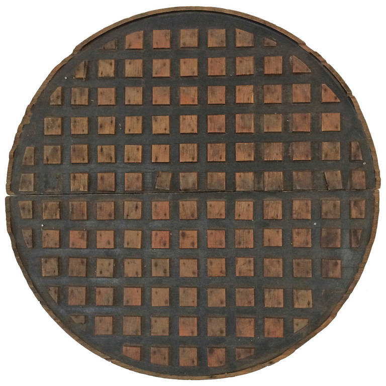 Wooden mold for a manhole cover at stdibs