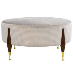 Imperial Ball-Foot Ottoman or Coffee Table