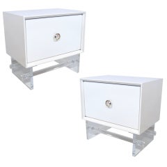 Pair of Lacquered Twenty Twenty Stands