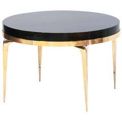 CF MODERN Custom Brass Banded Round Stiletto Side Table