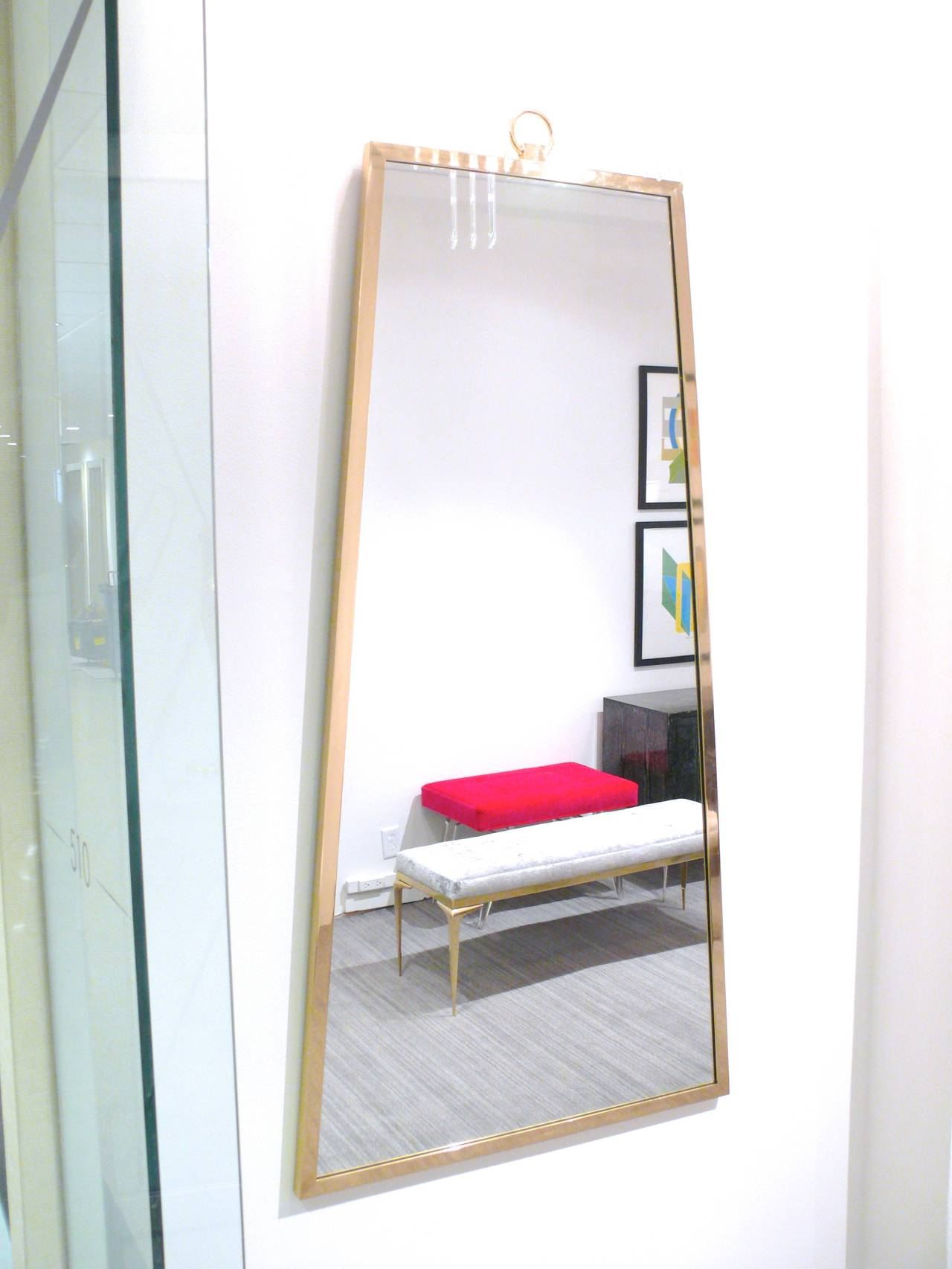 elongated trapezoid mirror for sale at 1stdibs