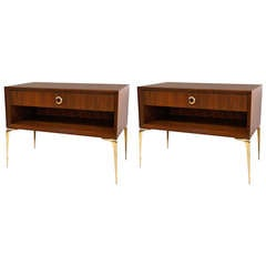 Pair of Ellie Nightstands in Natural Walnut