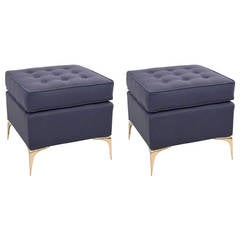 Pair of Cube Stiletto Ottomans