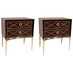 Incised Diamond Stiletto End Tables