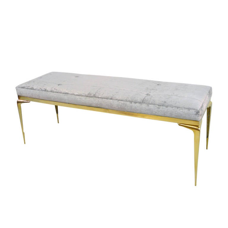 Framed Brass Stiletto Bench 1