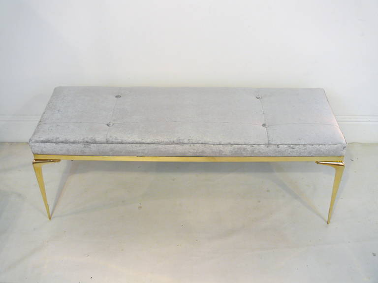 Framed Brass Stiletto Bench 3