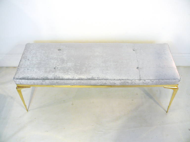 Framed Brass Stiletto Bench 4