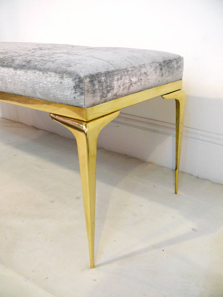 Framed Brass Stiletto Bench 7