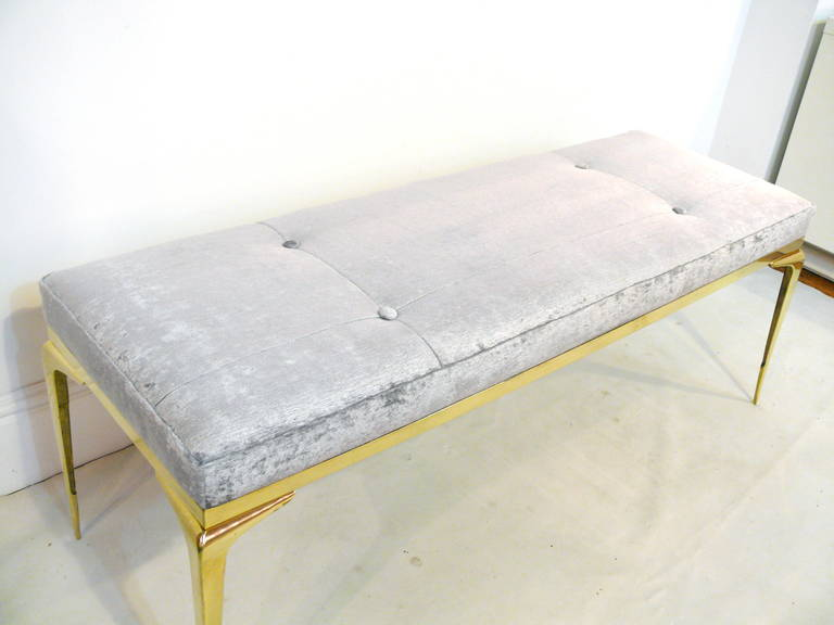 Framed Brass Stiletto Bench 8