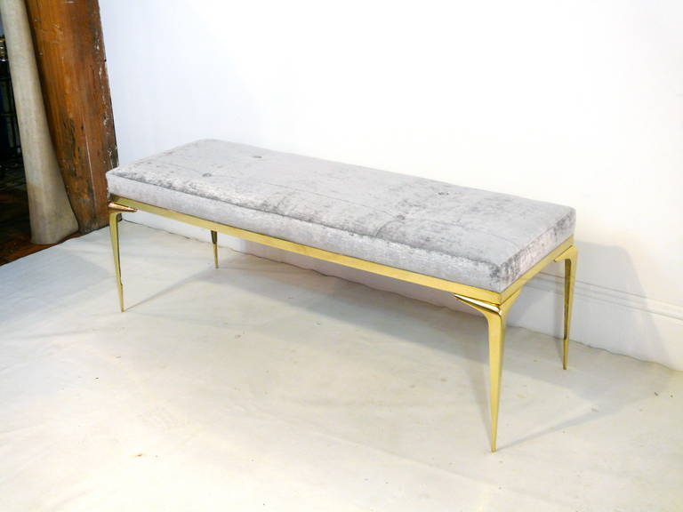 Framed Brass Stiletto Bench 9