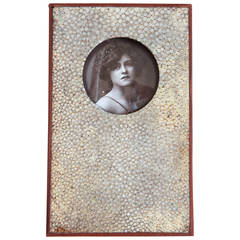 English Art Deco Shagreen Photograph Frame and Paperweight