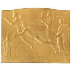 Armand Bonnetain Belgian Art Deco Bronze Medal, 1935