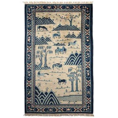 Late 19th Century Antique Chinese Carpet
