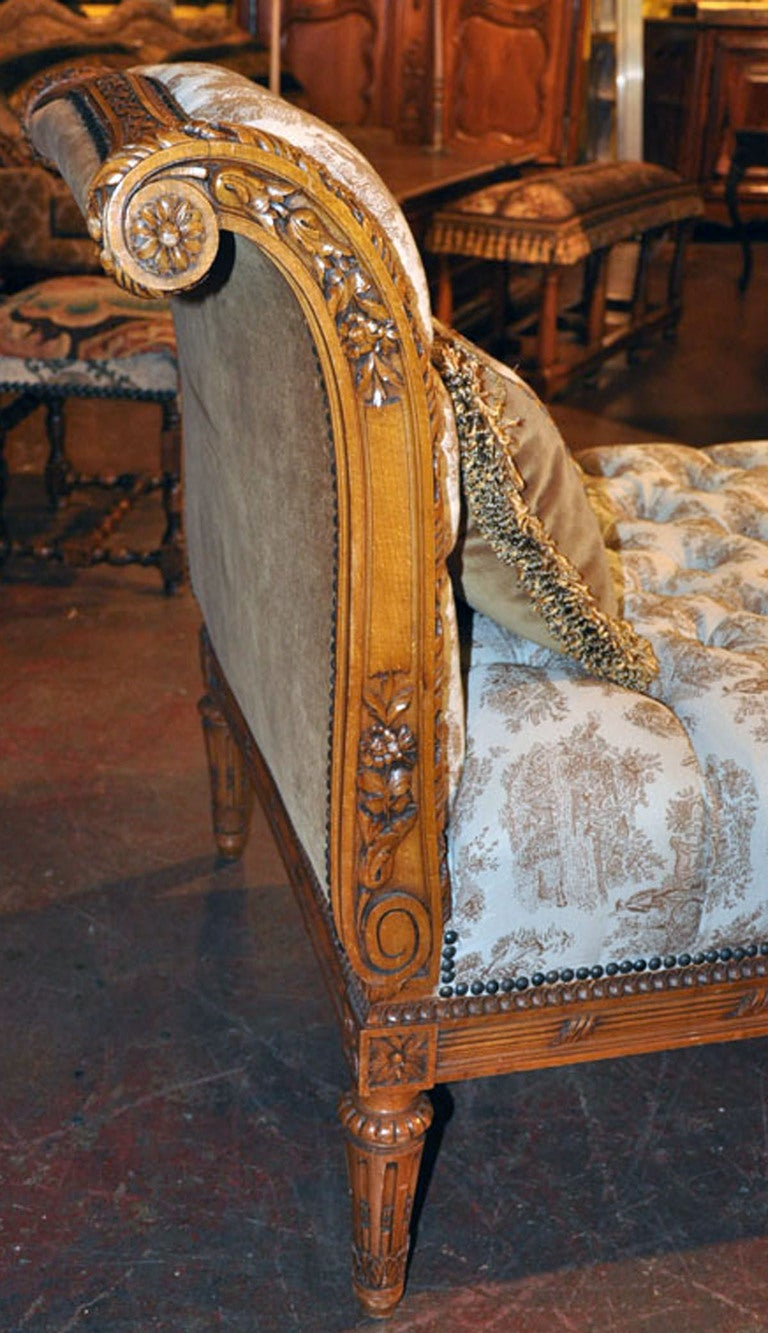 19th c louis xvi carved chaise at 1stdibs