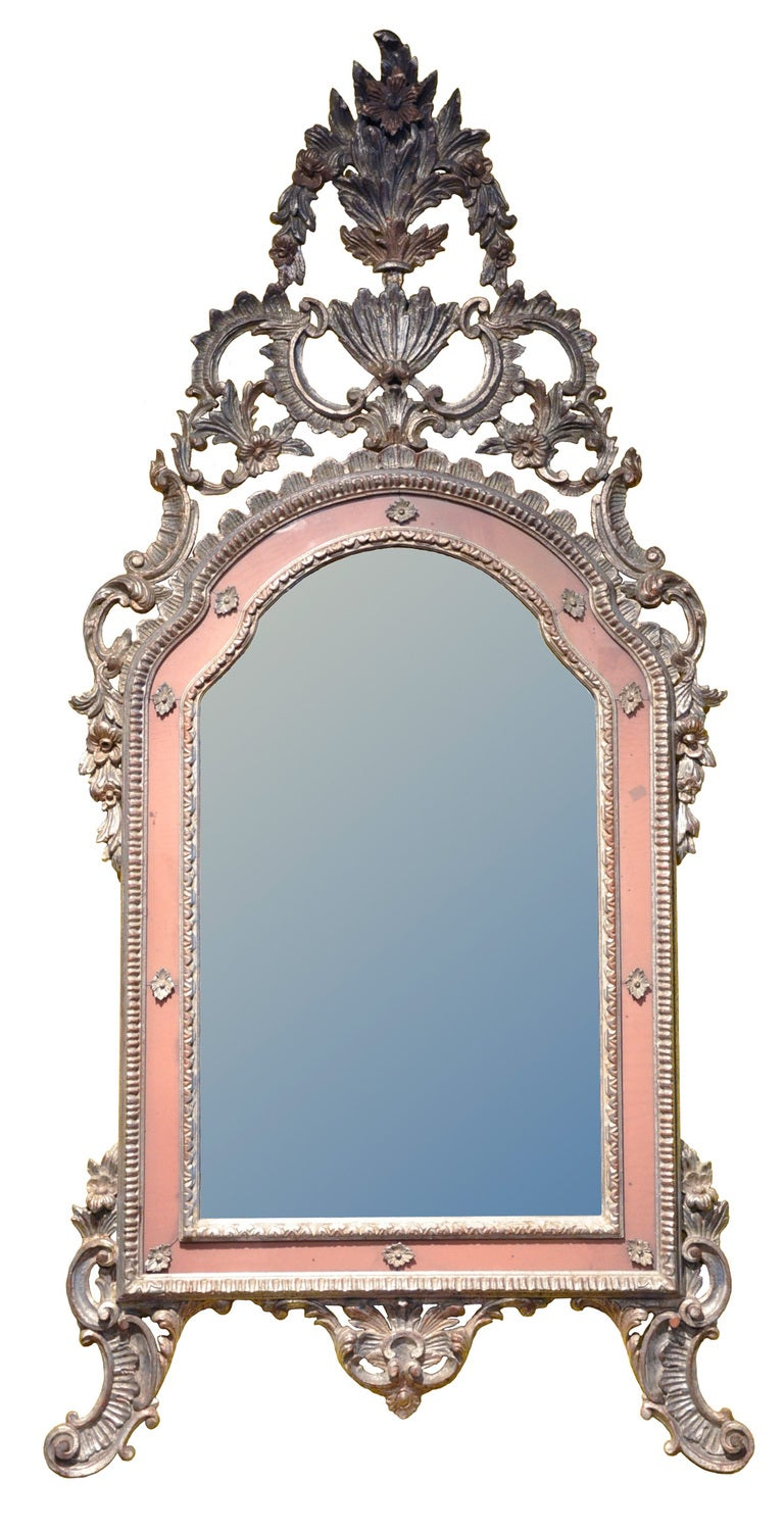 Italian baroque style silver gilt mirror at 1stdibs for Baroque style wall mirror
