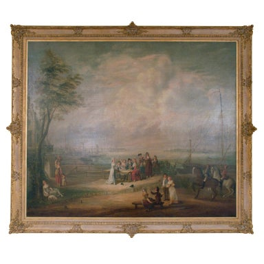 Large 18th Century French Oil Painting on canvas