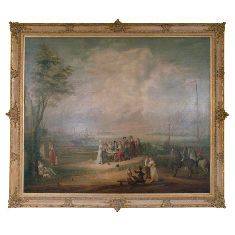 Large 18th Century French Oil Painting on canvas 1