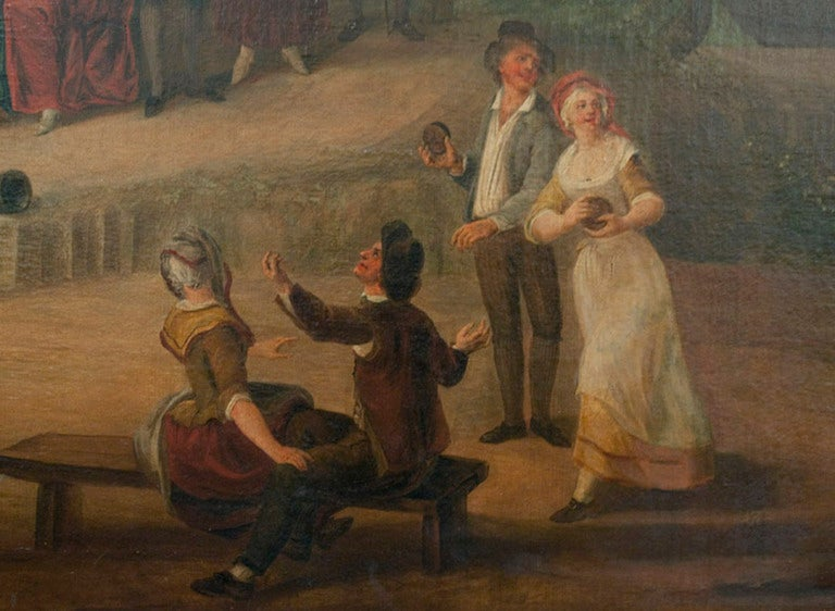 19th Century Large 18th Century French Oil Painting on canvas For Sale