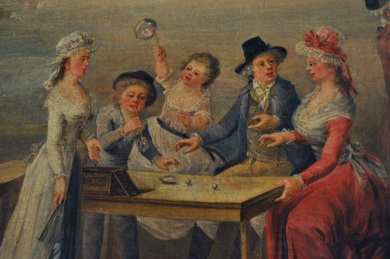 Large 18th Century French Oil Painting on canvas For Sale 3
